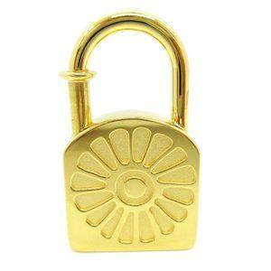 Authentic HERMES Sunflower Motif Soleil Bag charm